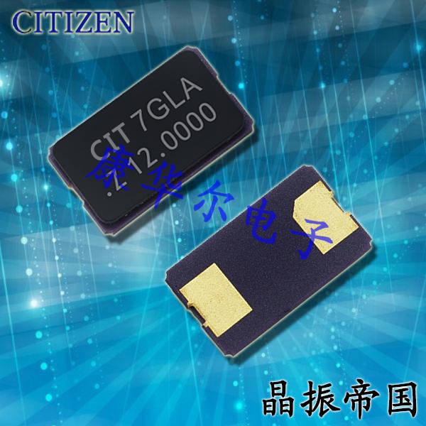 CITIZEN晶振,贴片晶振,CS10晶振,两脚封装晶振