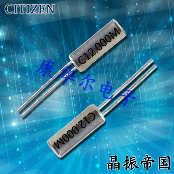 西铁城晶振,石英晶振,CSA-309晶振,进口DIP晶振