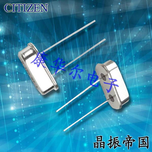 西铁城晶振,石英晶振,HC-49/U-S晶振,49S插件晶振